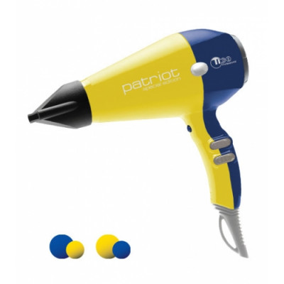Hair dryer ionic TICO Professional PATRIOT Yellow-Blue (100003-UA)
